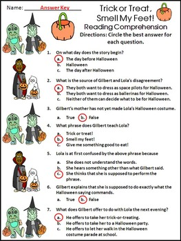 Halloween Activities: Trick or Treat, Smell My Feet Halloween Activity Packet