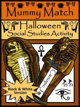 Halloween Activities: Mummy Match Halloween Game Activity