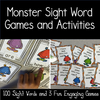 Monsters-Sight Words and a Boo Game