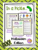 Halloween Writing Activities w/ Choice menu, Game, rubric, & activity templates