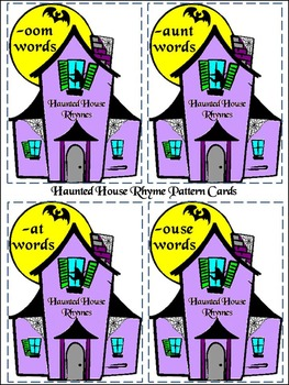 Halloween Activities Haunted House Rhyming Words Activity Bundle