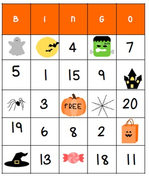 Halloween Activities: Original, Addition, or Multiplication Bingo