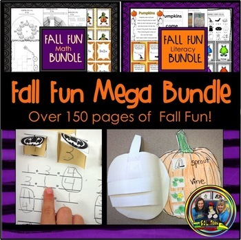 Halloween Activities Bundle for Math and Literacy