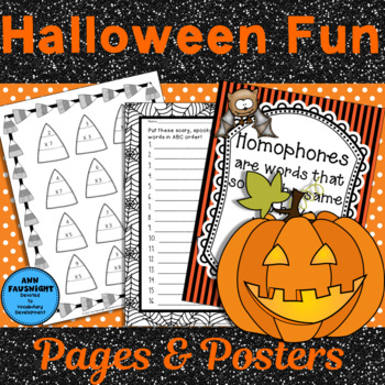 Halloween Fun Pages and Posters