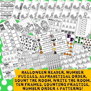Halloween Math Activities  Writing Activities
