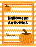 Halloween Activities (In Black & White and Color)