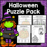 Halloween Activities - Math & Literacy Puzzles | Early Finishers