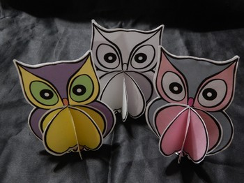Halloween Activities: 3D Owls Craft Activity Packet Color Version