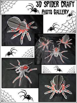 Halloween Activities: 3D Spiders Craft Activity Packet