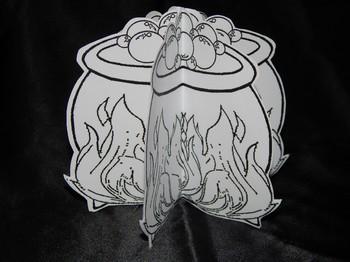 Halloween Activities: 3D Witch's Cauldron Halloween Craft Activity Packet