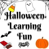 Halloween Learning Fun