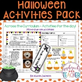 Halloween Activities - Across the Curriculum - Common Core