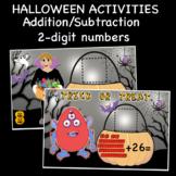 Halloween Activities-Addition/Subtraction,2-digit numbers