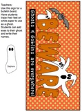 Halloween Activities, Banner, Bulletin Board, and Student Treat