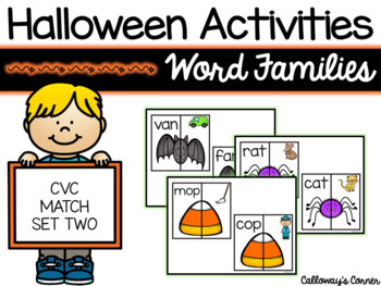 Halloween Short Vowel CVC Match SET TWO