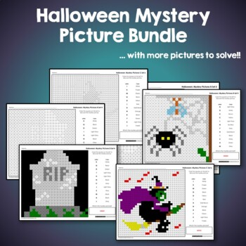 Halloween Coloring Pages / Halloween Coloring Sheets, Halloween Mystery Pictures