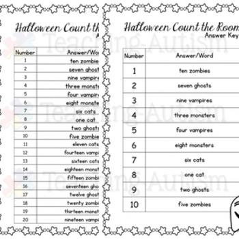 Halloween Activities - Count the Room