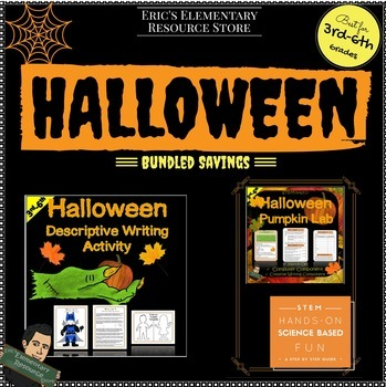 Halloween Activities-Descriptive Writing with Pumpkin Lab