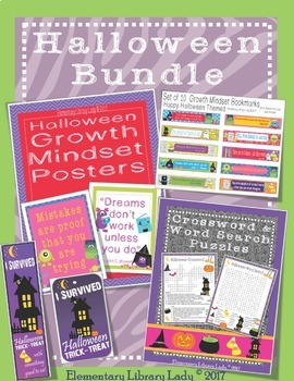 Halloween Activities Decor Handouts Bookmarks BUNDLE