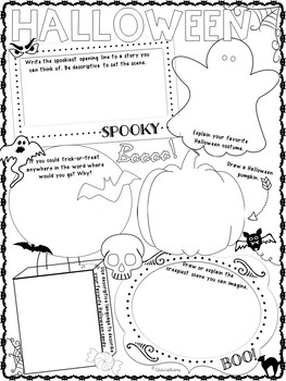 Halloween Activities - Doodle and Write