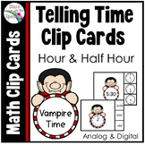Halloween Activities (Telling Time to the Half Hour) Dracula