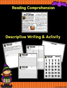 Halloween Activities - Five Subjects, One Day!