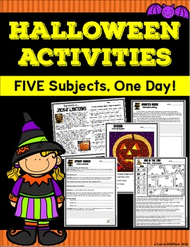 Halloween Activities - Five Subjects, One Day!