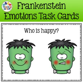 Halloween Activities - Frankenstein Feelings / Emotions Ta