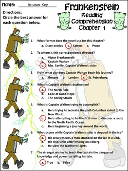 Halloween Activities: Frankenstein Junior Classic Novel Activity Packet