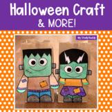 Halloween Activities (Frankenstein Treat Bag Craft & More for Kindergarten)