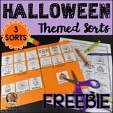 Halloween Activities Freebie: Sorts