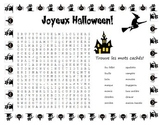 French Halloween Fun package ~ 6 pages d'activités
