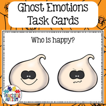 Feelings and Emotions Halloween Task Cards Ghost