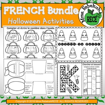 Halloween Activities HUGE BUNDLE EN FRANCAIS
