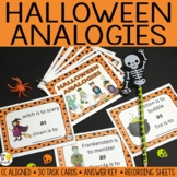 Halloween Activities: Halloween Analogies Task Cards Digit