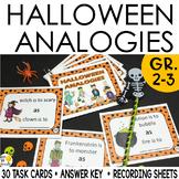 Halloween Activities: Halloween Analogies Task Cards Digit
