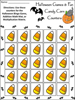 Halloween Activities: Halloween Bingo Game Activity Packet Bundle