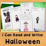 Halloween Emergent Readers | Open Dyslexic Font