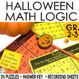 Halloween Math Logic Puzzles