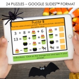 Halloween Math Logic Puzzles - Digital and Print Versions