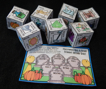 Halloween Activities: Halloween Roll-A-Story Creative Writing Activity Bundle