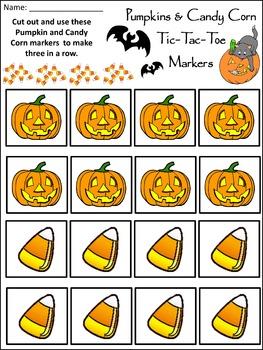 Halloween Activities: Halloween Tic-Tac-Toe Games Activitiy Packet Bundle
