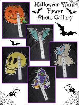 Halloween Activities: Halloween Word Viewer Spelling Activity Bundle -Color & BW