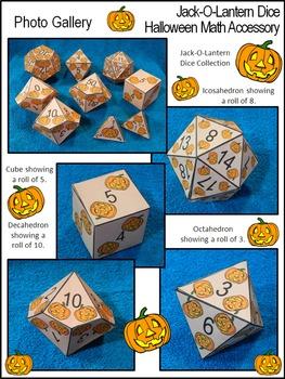 Halloween Activities: Jack-O-Lantern Dice Templates Halloween Math Center Bundle