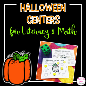 Halloween Math and Literacy Center Activities
