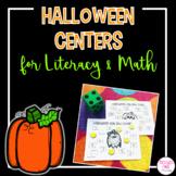 Kindergarten Halloween Centers for Literacy and Math