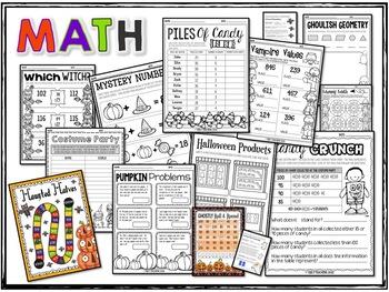 Halloween Activities Math Language Games Reading STEM & More FIFTH GRADE