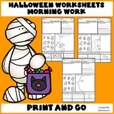 Halloween Activities - Math Worksheets Counting Numbers 1-5