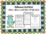 Halloween Activities: Math and Literacy Practice