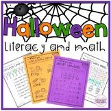 Halloween Activities Math and Reading